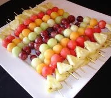 Seasonal Fruit Skewers
